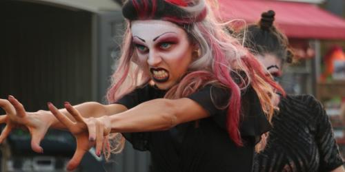 Angry ghoul dancing in Nightmare Rhythm Machine