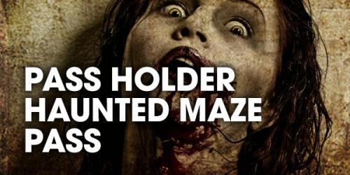 Pass Holder Haunted Maze Pass graphic