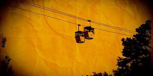 Sky Buckets with orange sky