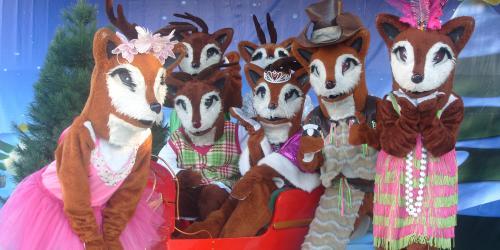 The cast of Reindeer Holi-Daze Dance Party