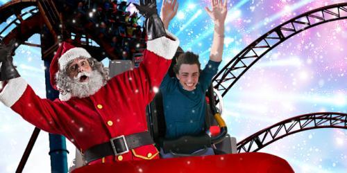 Santa on roller coaster