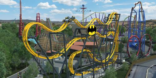 New Batman: The Ride located near other DC themed attractions