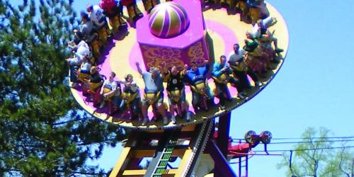 Guests riding Hurricane Force 5