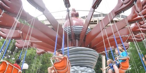 Taz's Tornado swings with guests