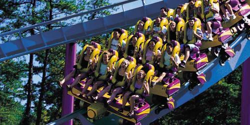 BIZARRO top rail steel coaster with guests