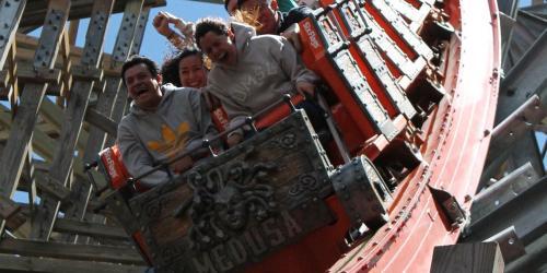 Guests riding Medusa