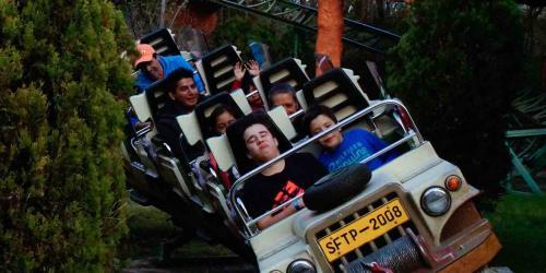 Guests riding Tsunami