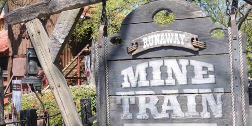 Runaway Mine Train sign
