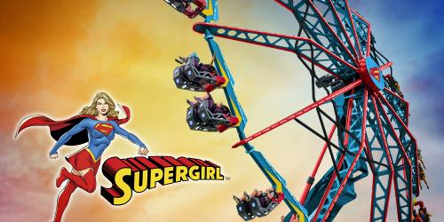 SUPERGIRL ride with Supergirl logo