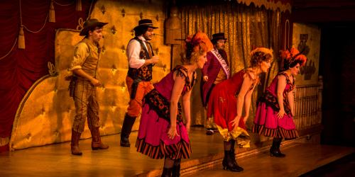 The performers in Miss Rubys Wild West Cabaret
