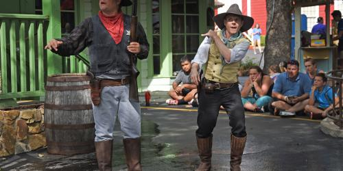 The Sheriff and his assistant in Texas Justice at Six Flags Over Texas