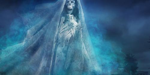 Skeleton ghost in dress