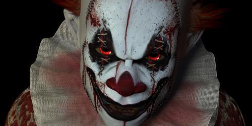 Scary creepy clown