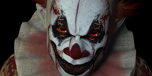 Sinister clown as part of the CarnEvil scare zone section of Fright Fest
