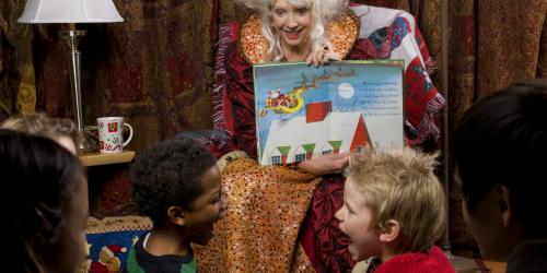 Children with Mrs. Claus at Storytime