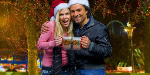 Couple enjoying Holiday Treats