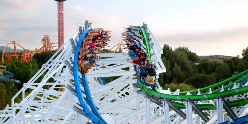 guests riding Twisted Colossus