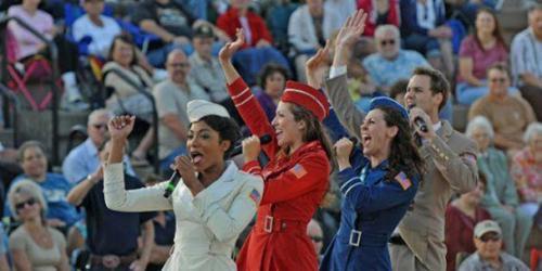USO Show troupe singing