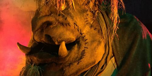 Close up of troll during Fright Fest