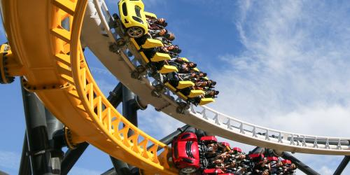 West Coast Racers - Racing with blue sky