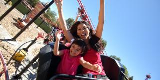 family on kids coaster