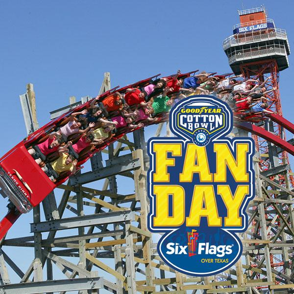 Cotton Bowl Fan Day at Six Flags