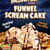 Snickers Funnel Cake - Available at Funnelicious and Mockingbird Funnel Cakes