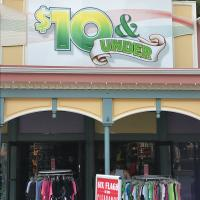 $10 & Under Store Entrance