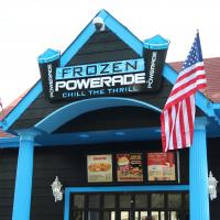 Enjoy your favorite beverages at Frozen Powerade located next to Georgia Scorcher!