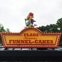 Flags Famous Funnel Cakes sign