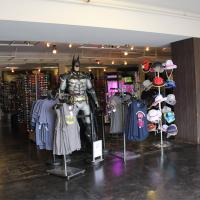Interior of X Gear store with life size BATMAN