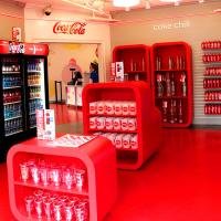 Interior of Coca-Cola Freestyle Store