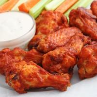 buffalo wings with house-made sauce