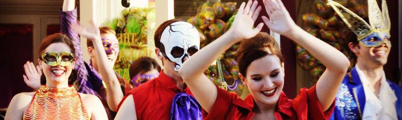 Mardi Gras entertainment.