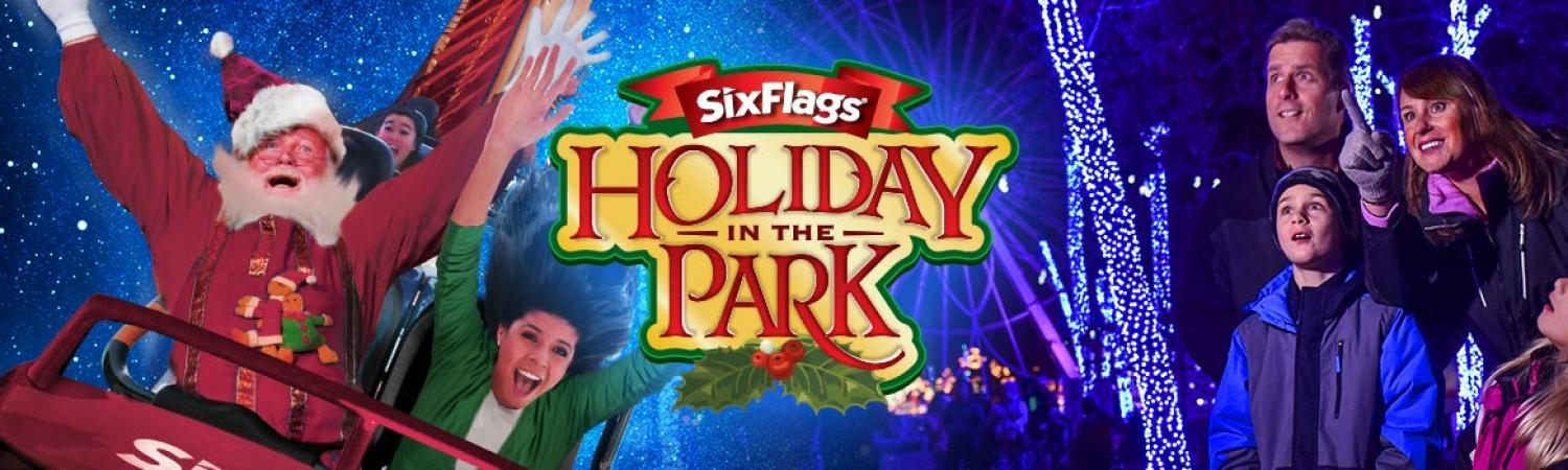 Holiday in the park banner