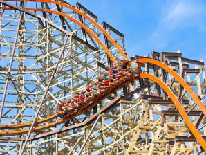 guests riding goliath