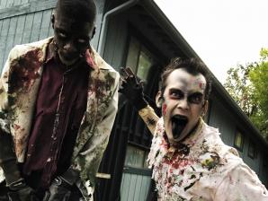 Zombies during Fright Fest.