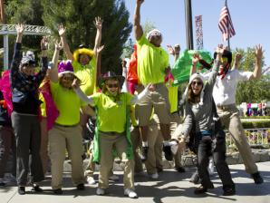 Group of Happy Six Flags Employees