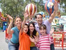 In park family photo