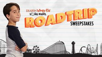 six flags wimpy kid road trip sweepstakes logo