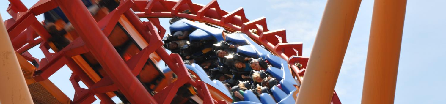 Flashback exiting an inversion at Six Flags New England