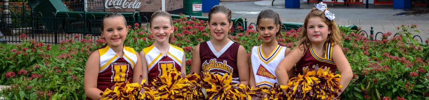 Cheerleaders during Thrill Jam at Six Flags New England