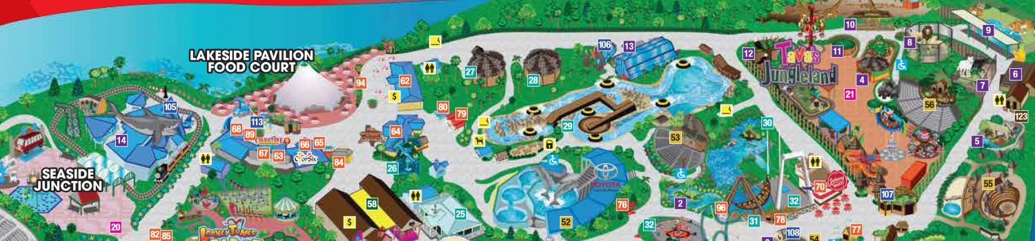 Park Map | Six Flags Discovery Kingdom