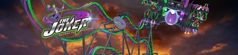 THE JOKER 4D Coaster concept art