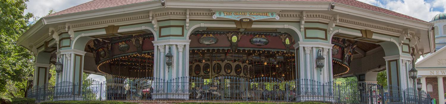Carousel at Six Flags New England