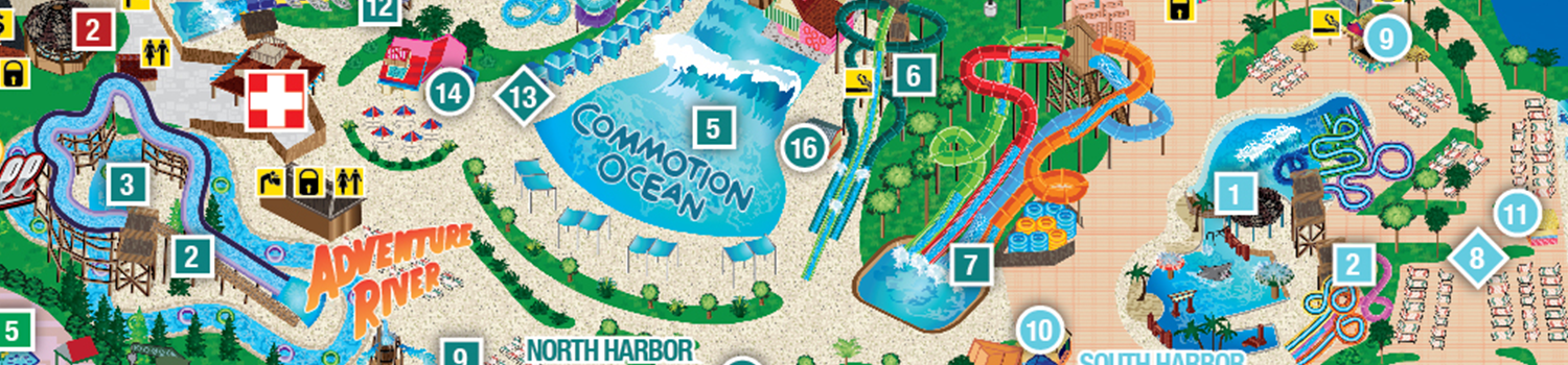 Park Map | Six Flags New England