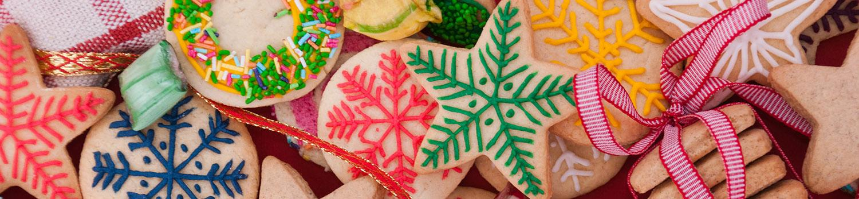 Brightly colored sugar cookies