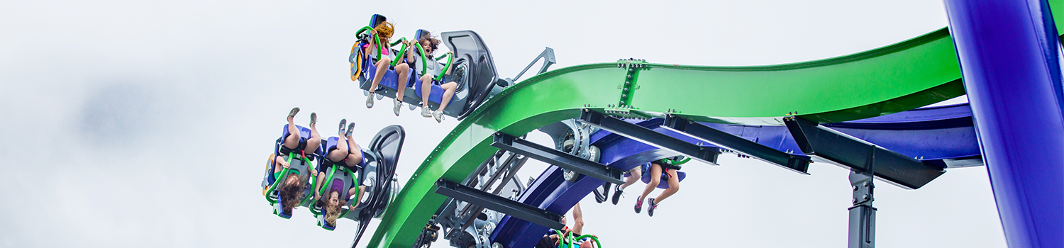 THE JOKER™ 4D Free Fly Coaster at Six Flags New England
