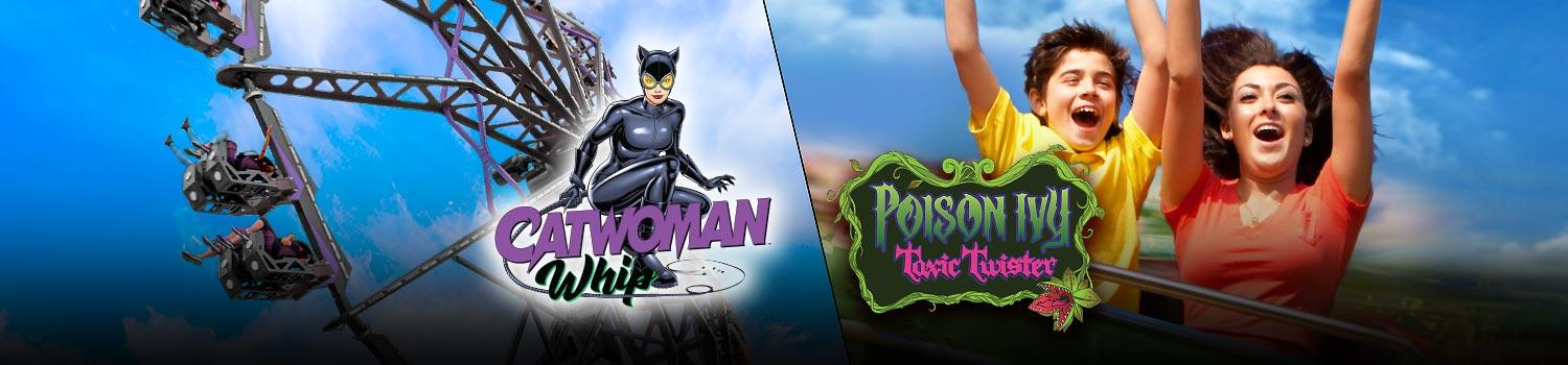 Cat Woman and Poison Ivy ride banner