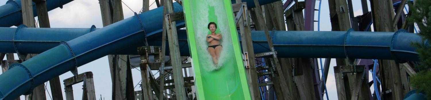 Woman plummets down Cannonball Falls water slide at Six Flags New England Hurricane Harbor